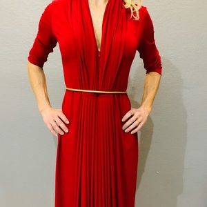 Calvin Klein Dresses - Calvin Klein Classic Red Party Dress ❤️